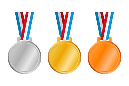 メダル金銀銅首かけ