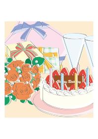 誕生日会 ケーキ、プレゼント