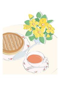 紅茶とパイ、ティータイム