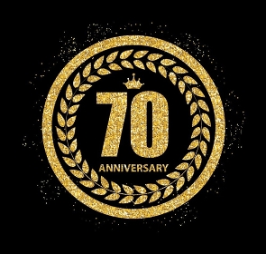 Template 70 Years Anniversary Vector Illustration EPS10. Template 70 Years Anniversary Vector Illustration