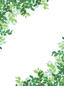 葉のシルエット フレーム・装飾(縦長)