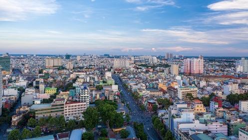 ベトナム・黄昏時のホーチミンシティ