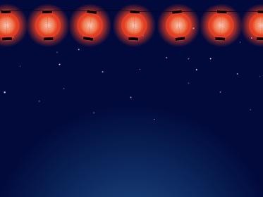 夏祭りの提灯と夜空のイメージ背景A