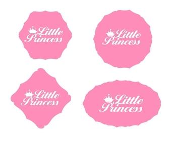 Little Princess Label Set Vector Illustration EPS10. Little Princess Label Set Vector Illustration