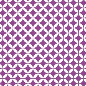花七宝模様 紫 3