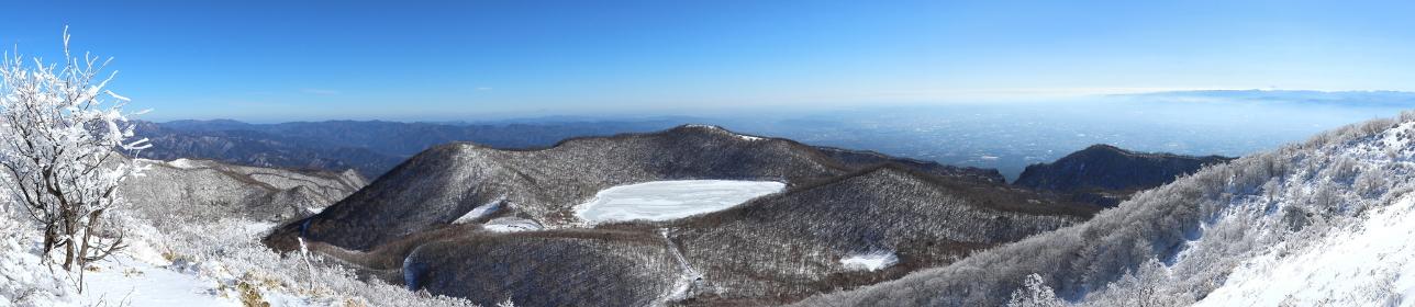 地蔵岳(赤城山)山頂からの眺望 2 (パノラマ)