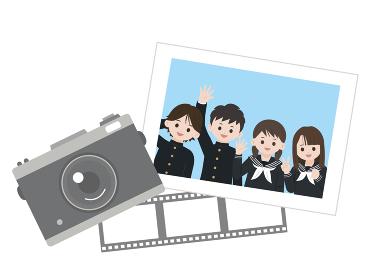 学生 生徒 中高生 写真 クラスメイト 友達 イラスト素材