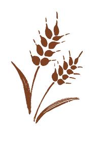 麦の茶色のシンプルなシルエットイラスト