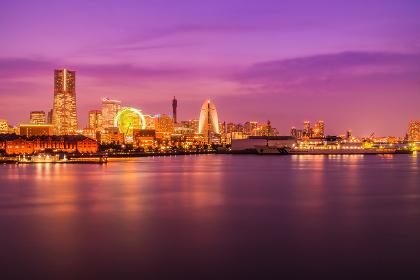 Beautiful building and architecture in Yokohama city skyline