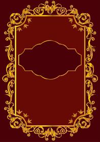 グラフィック素材:ビンテージ バロック調のオーナメント 飾り罫 飾り囲み 表紙 テンプレート