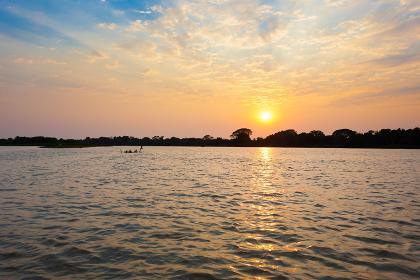 Sundown from Pantanal, Brazil