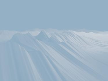 白い波のようなカーブの3d render