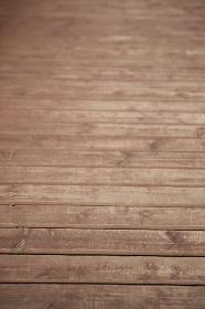 木製のデッキ