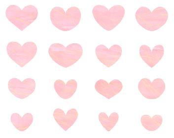 ピンク色のハートセット バレンタイン素材