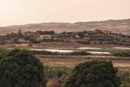Sicilian village on the hill