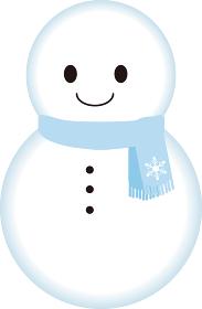 冬 雪だるま スノーマン イラスト素材