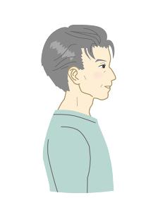 日本人のおじいさん横顔