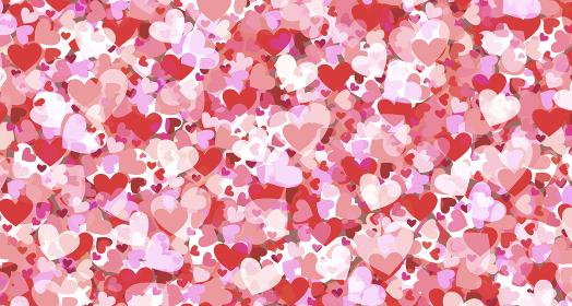 ハートの壁紙 赤 ピンク