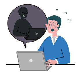 男性 お兄さん パソコン ハッキング