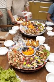 お祝のテーブル料理