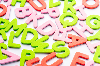 英語 アルファベット 白背景