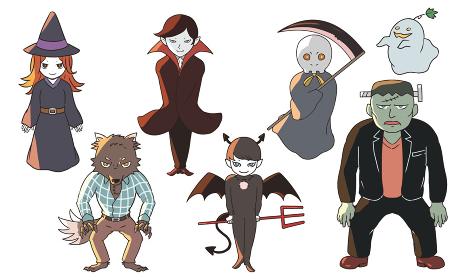 ハロウィンのモンスター達