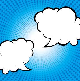 集中線の背景イラスト(ブルー)・コミック・漫画背景・コメントバルーン|放射・放射線|ベクターデータ