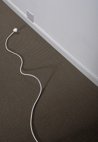 An electrical cord and plug.
