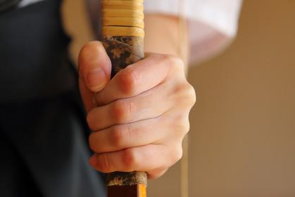 弓道選手の手