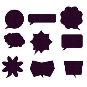 イラスト素材:鮫小紋柄江戸小紋柄漫画コミックの吹き出しのイラストセット9種ベクターデータ