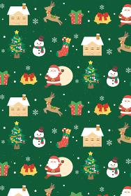 クリスマス シームレスパターン 背景壁紙 緑色