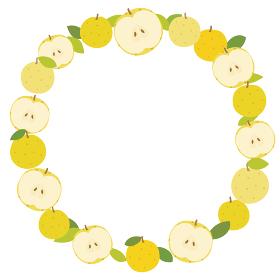 梨の丸いフレーム