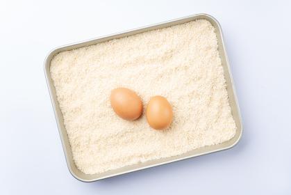 パン粉と卵