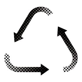 三角形の回転する矢印