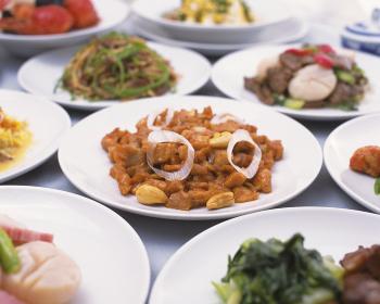 豪華な中華食卓