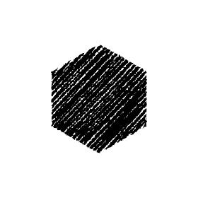 チョークで描いたような図形/アイコン(六角形)