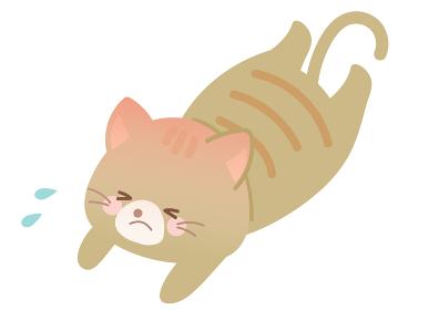 熱 熱中症 ネコのイラスト