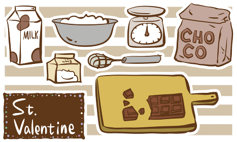 バレンタインデー 手作りチョコの材料シリー