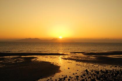 有明海と日の出の時