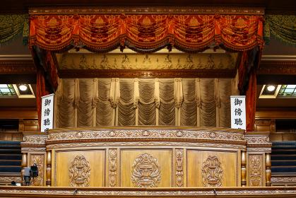 国会議事堂の参議院議場の傍聴席(千代田区・東京)