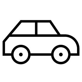 シャープな細い線のアイコン/自動車・乗り物 (ウェブデザイン用)