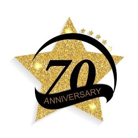 Template 70 Anniversary Vector Illustration EPS10. Template 70 Anniversary Vector Illustration