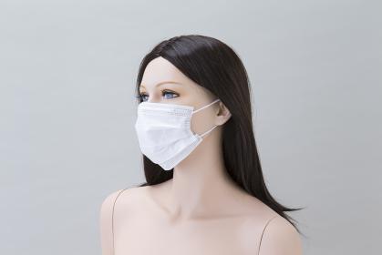 マスク着用トルソー 女性