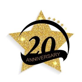 Template 20 Anniversary Vector Illustration EPS10. Template 20 Anniversary Vector Illustration