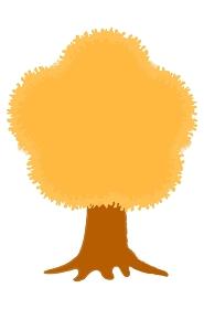 一本の木 秋