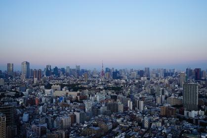 東京の夕方