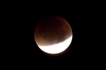 total lunar eclipse on 28.09.2015,observed through a telescope in kiel