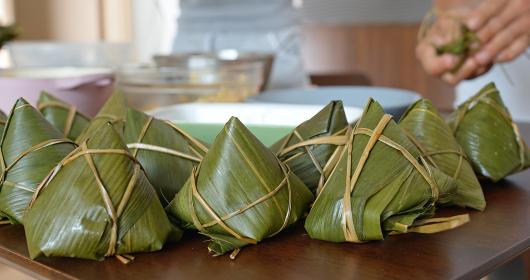 Homemade rice dumpling for Chinese dragon boat festival