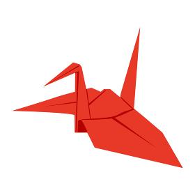 日本文化素材 / 縁起物折鶴