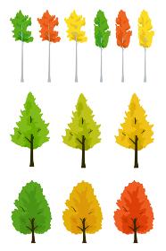 紅葉の木 秋のイラストセット